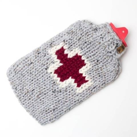 First Aid Hot Water Bottle Cover Fair Isle Cozy Chunky