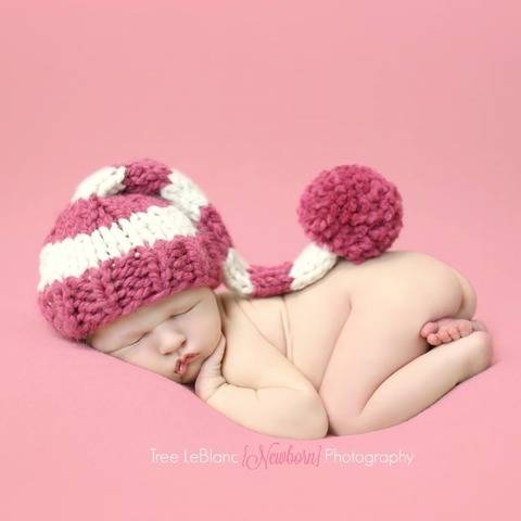 Striped Stocking Cap Hat Baby Children Newborn
