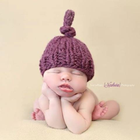 Top Knot Hat Chunky Baby Newborn Children Toque