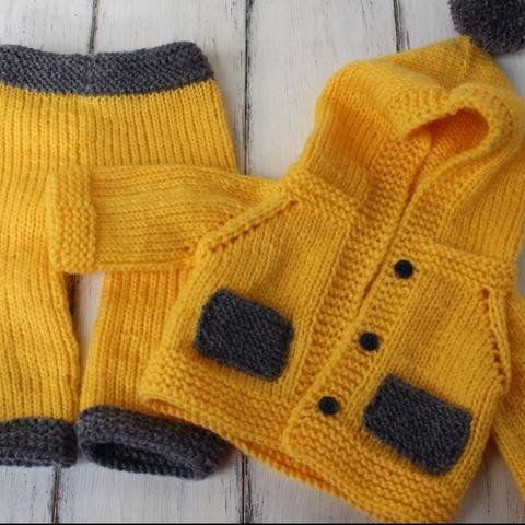 Dolls Jacket and Trousers Knitting Pattern