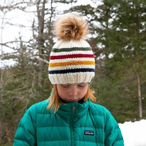 Hudson Bay Striped Beanie Hat Baby Children Women Men