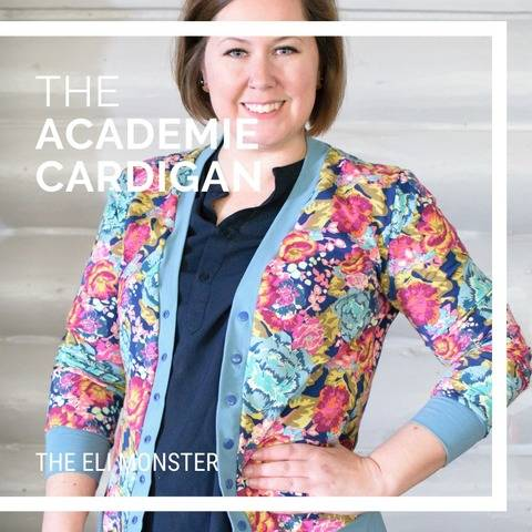 The Adult Academie Cardigan PDF Sewing Pattern