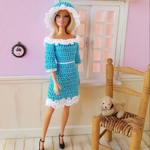 """Apolline"" crochet pattern for Barbie"