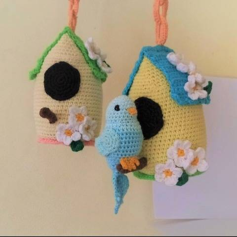 Bird House. Crochet pattern