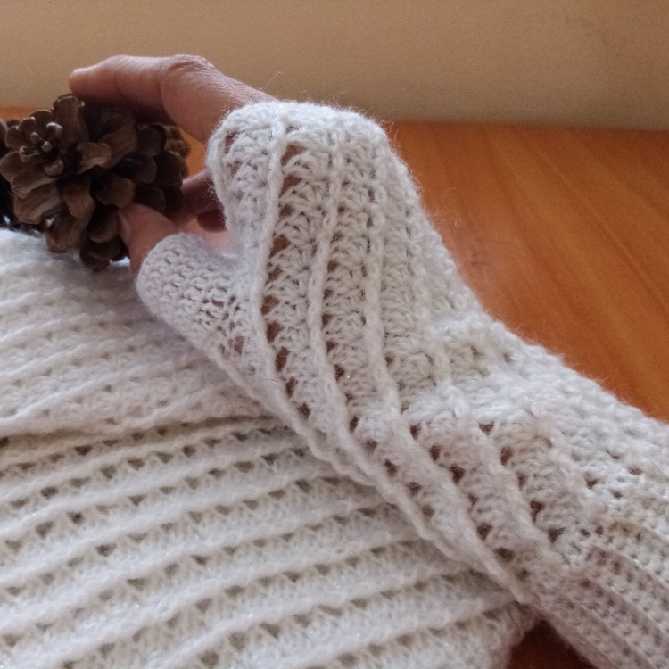 Fingerless Gloves and Infinity scarf