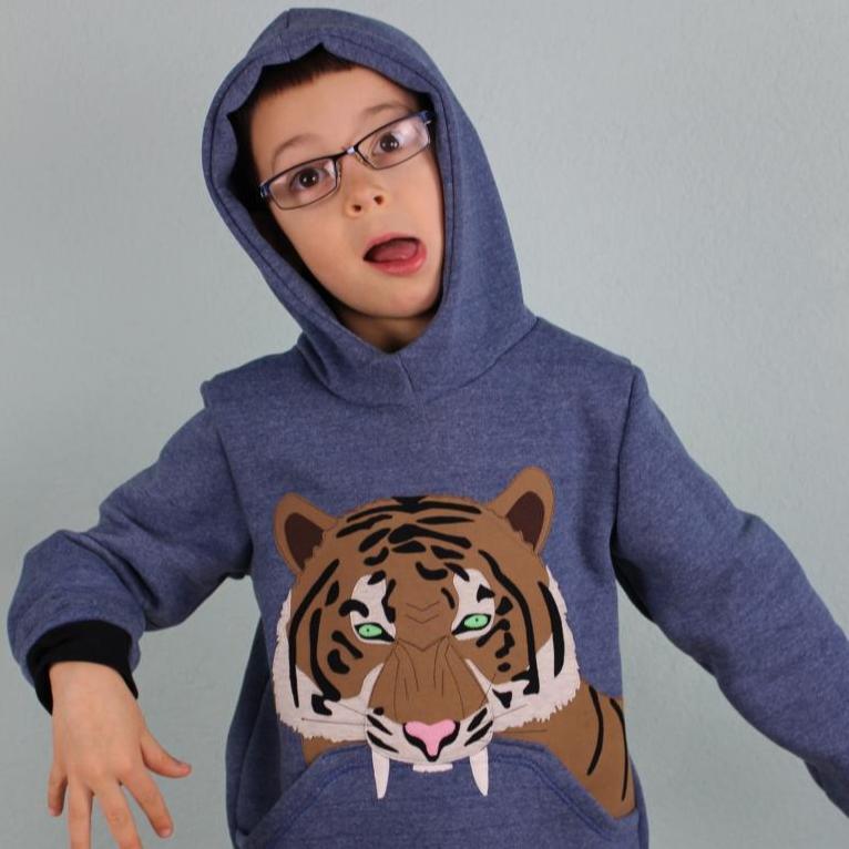 "eBook Hoodie ""Mini Mister Tiger"" Größen 86 - 146"