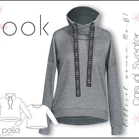 Ebook / Schnittmuster lillesol women No.61 Casual Sweater