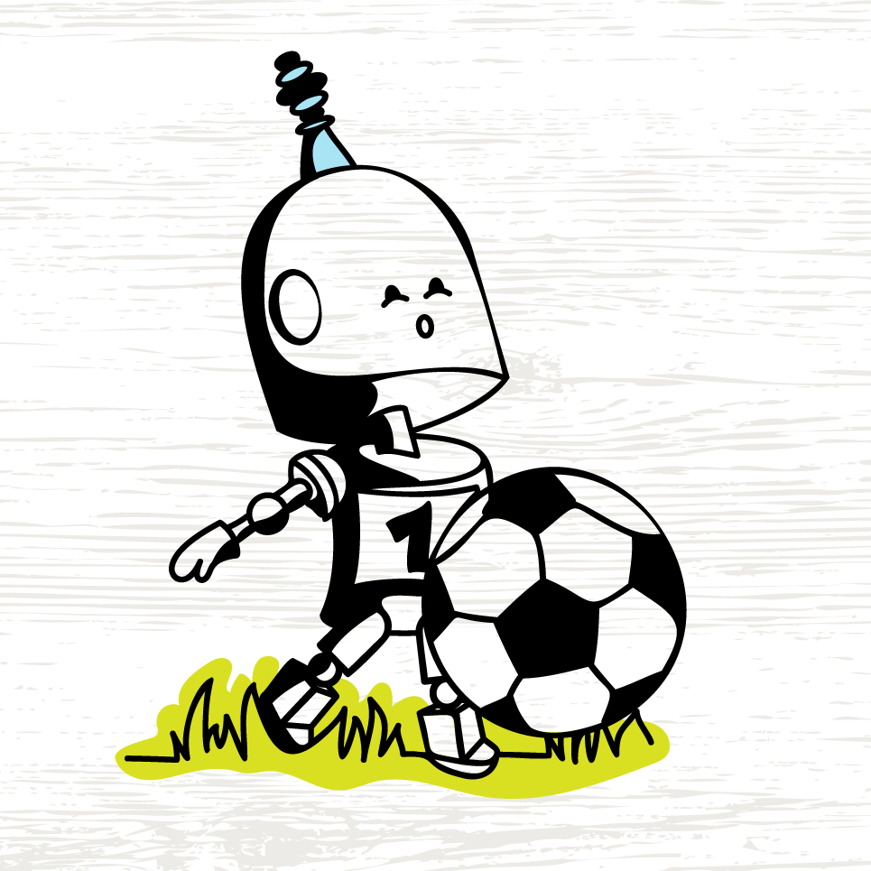 Robot plays soccer - plotter file