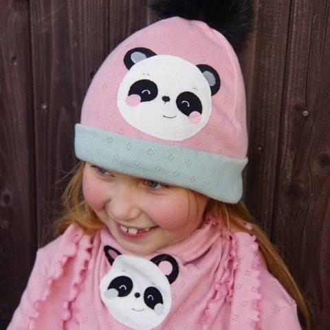 Stickdatei Panda Bär Doodle