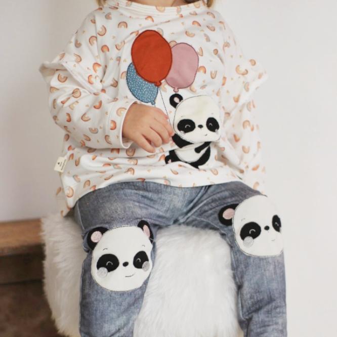 Stickdatei Panda Kombi-Set zum Sparpreis
