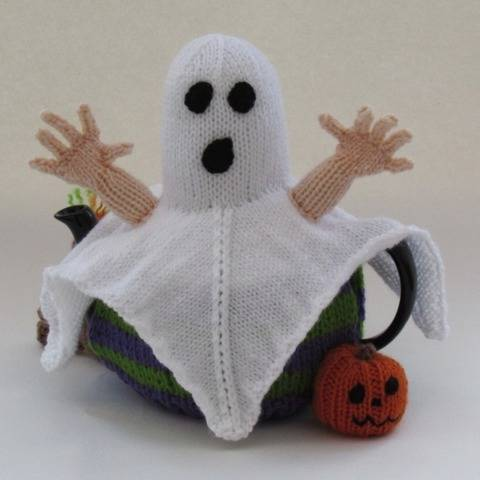 Creepy Cuppa Halloween Ghost Tea Cosy Knitting Pattern