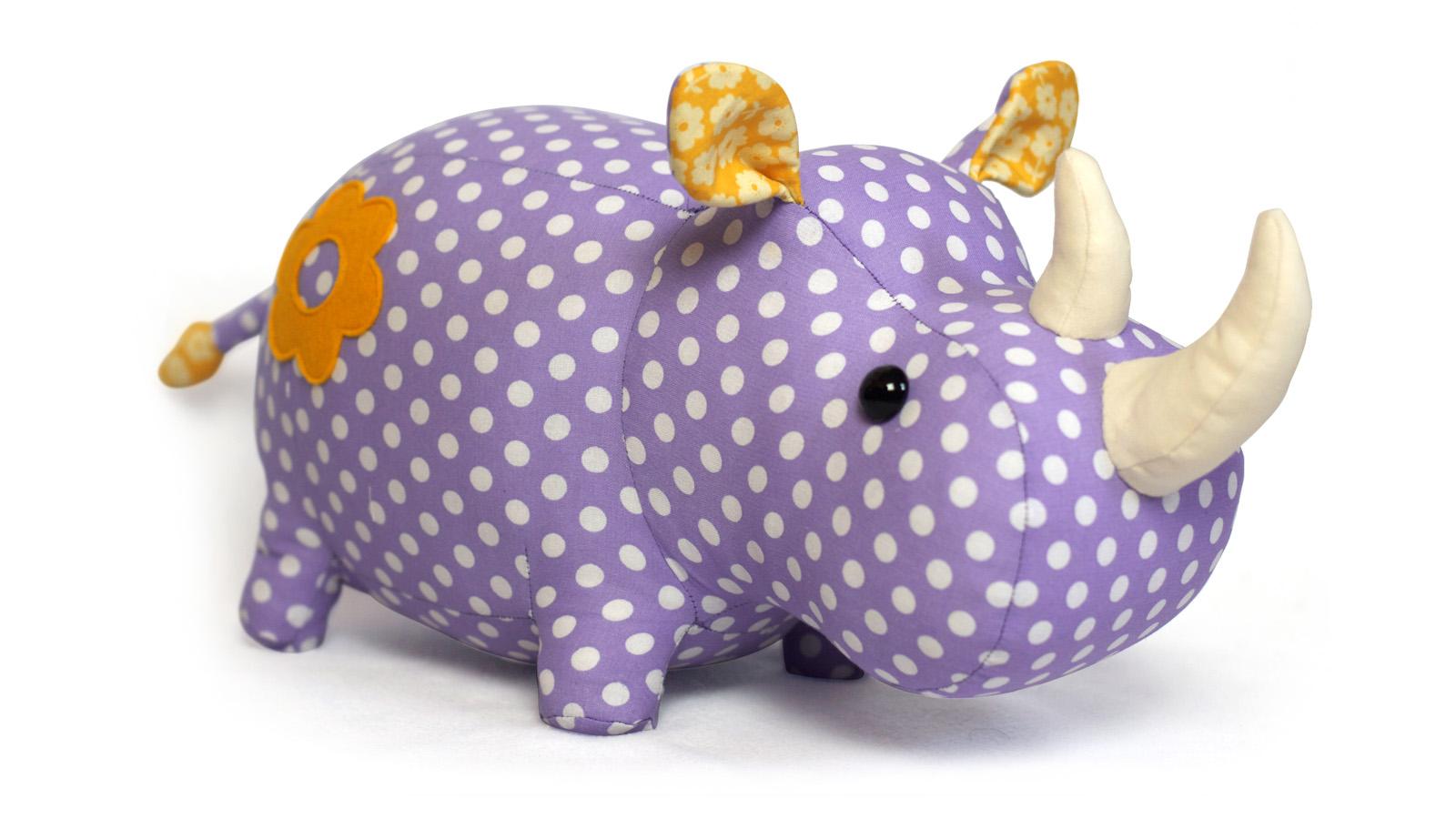 Rhino sewing pattern toy pdf - ENGLISH pattern