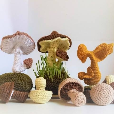Collection Mushrooms. Crochet pattern