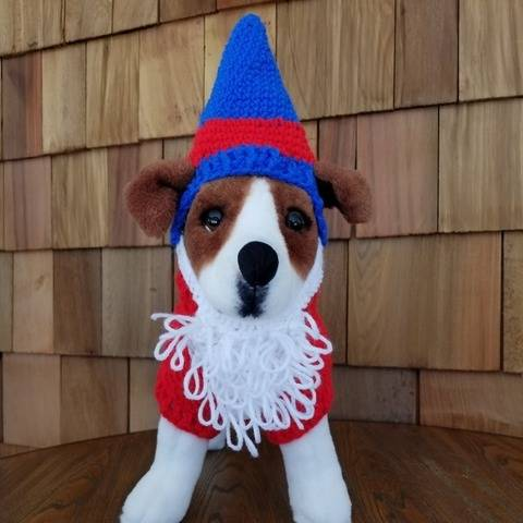Garden Gnome Dog Sweater and Hat