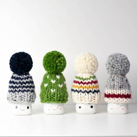 Cozy Cabin Marshmallow Mugs Hats Pompom Decor Hudson Bay
