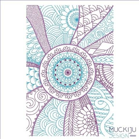 "Stickdatei 20x30 ""FullCover Zentangle"" (ART-389)"