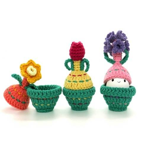 Egg warmers Spring Flowers Crochet Pattern instant download