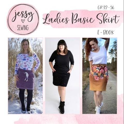 *Ladies Basic Skirt* Basic Rock, gerader und runder Saum