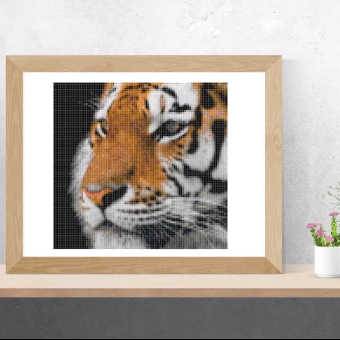 Point de croix, tutoriel le tigre, PDF