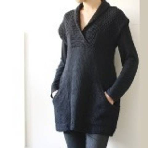 Ebony tunic knitting pattern