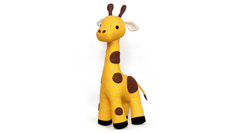 Giraffe sewing pattern - ENGLISH version