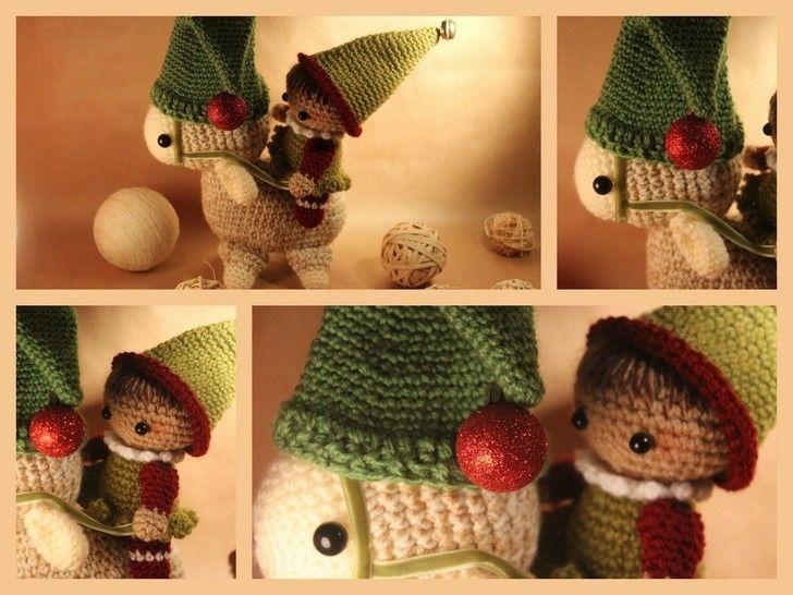 """Häkelanleitung """"Weihnachtsgespann"""" bei Makerist - Bild 1"""