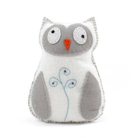 Snowy Owl Hand Sewing Pattern