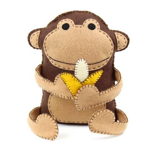 Monkey and Banana Hand Sewing Pattern