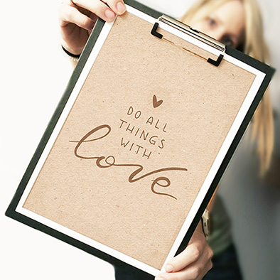 """Plotterdatei """"DO ALL THINGS WITH LOVE"""" (SVG/DXF)"""