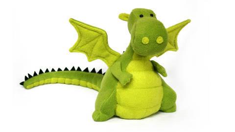 Yoki the dragon sewing pattern - ENGLISH version
