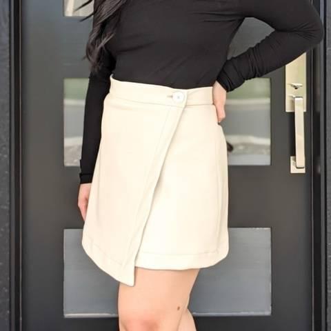DIY Asymmetrical Mini Wrap Skirt | Melanie Wrap Skirt