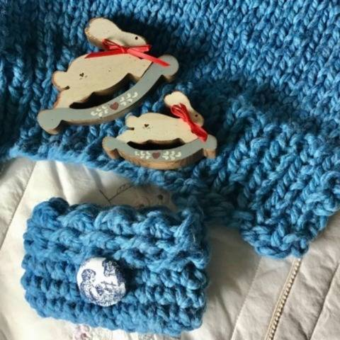 Blue Eyed Baby Blanket