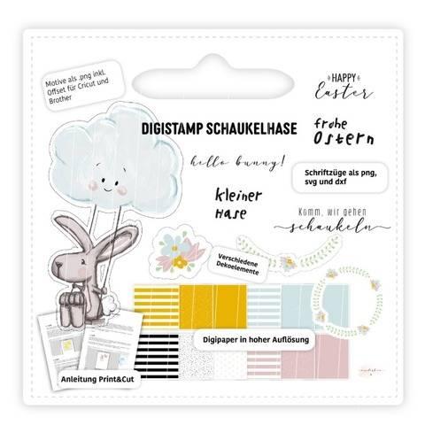 Digistamp Schaukelhase inkl. Anleitung & Digipaper
