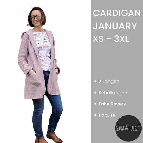 Strickjacke / Cardigan JANUARY Gr XS – 3XL