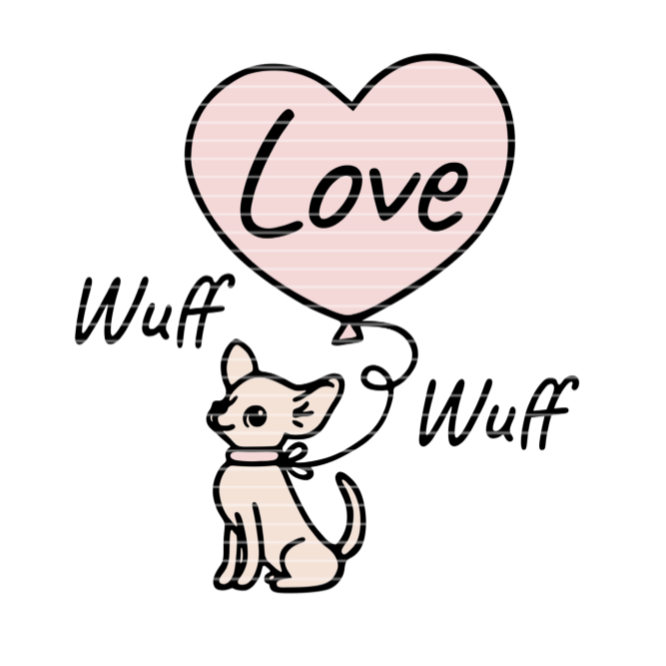 """Cutting file """"Chihuahua with a heart"""" SVG DXF"""