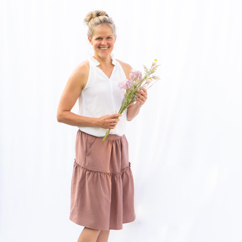 Salvia Skirt, Size 34-54, PDF Sewing Pattern