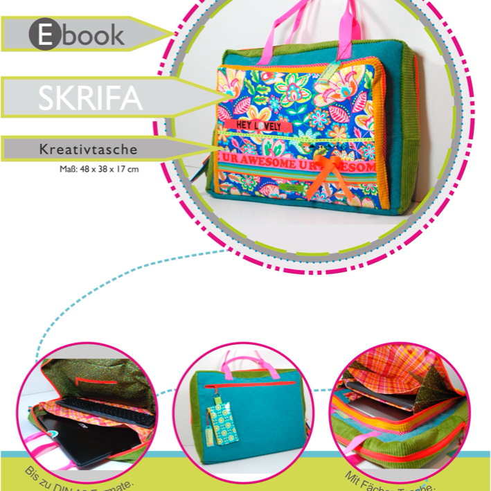 Ebook SKRIFA♥ ♥ ♥Kreativtasche für HomeOffice + Hobby