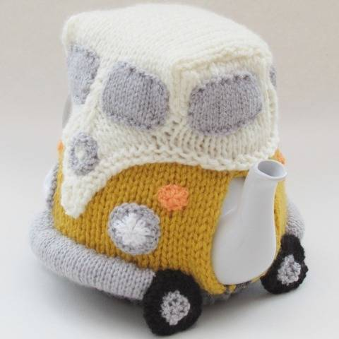 Volkswagen Campervan Tea Cosy Knitting Pattern