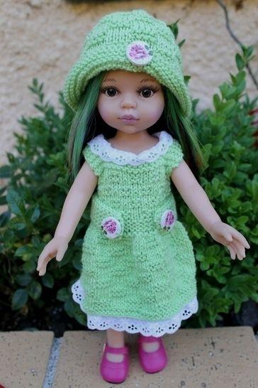 Habit Poupée 32-35cm chapeau&pull Jardin - tricot chez Makerist - Image 1