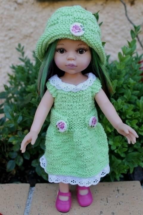 Habit Poupée 32-35cm chapeau&pull Jardin - tricot chez Makerist