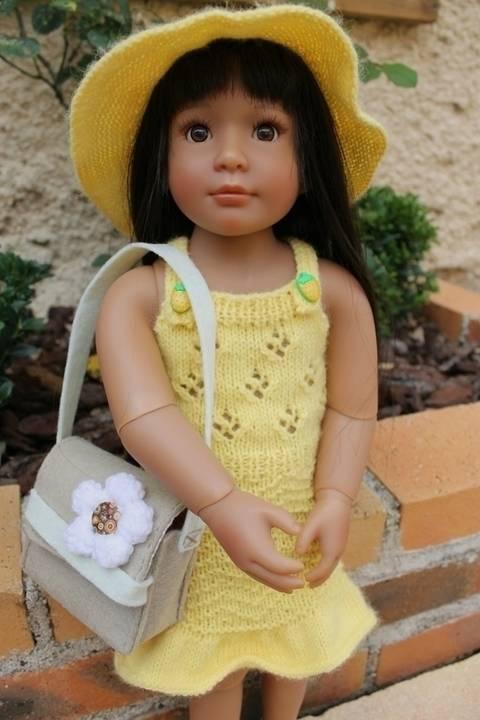 Habit Poupée Kidz 46 cm chapeau&robe soleil - tricot