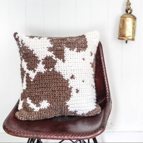 051- Cowhide pillow