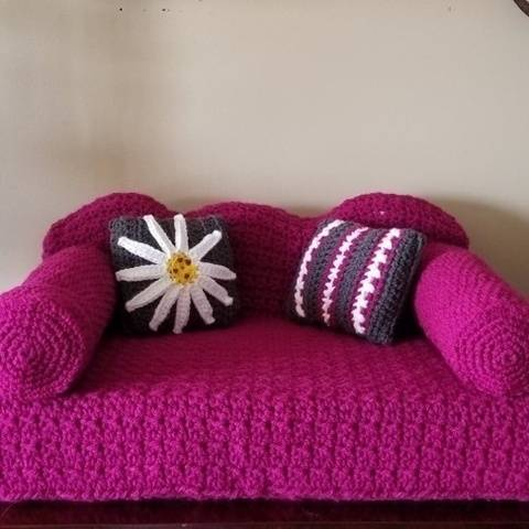 Crochet Pet Couch, Cat Couch, Dog Couch
