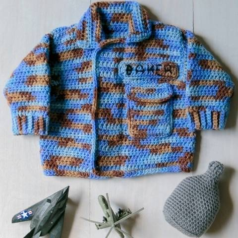 Air Force Baby Sweater