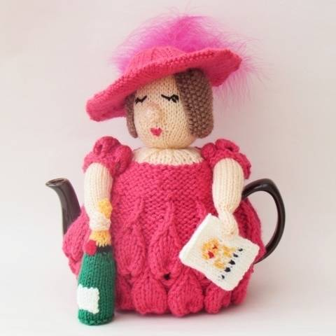 Ladies Day at Royal Ascot Tea Cosy Knitting Pattern