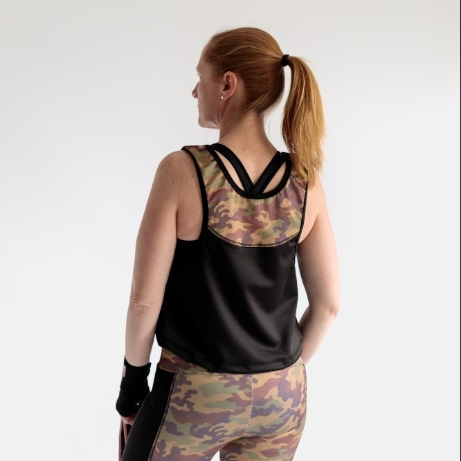 Fitness tank top, long or cropped sewing pattern
