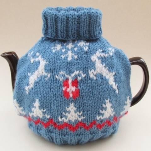 Scandi Christmas Jumper Tea Cosy Knitting Pattern