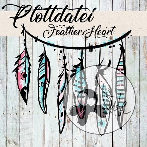 Cutting File Feather Heart