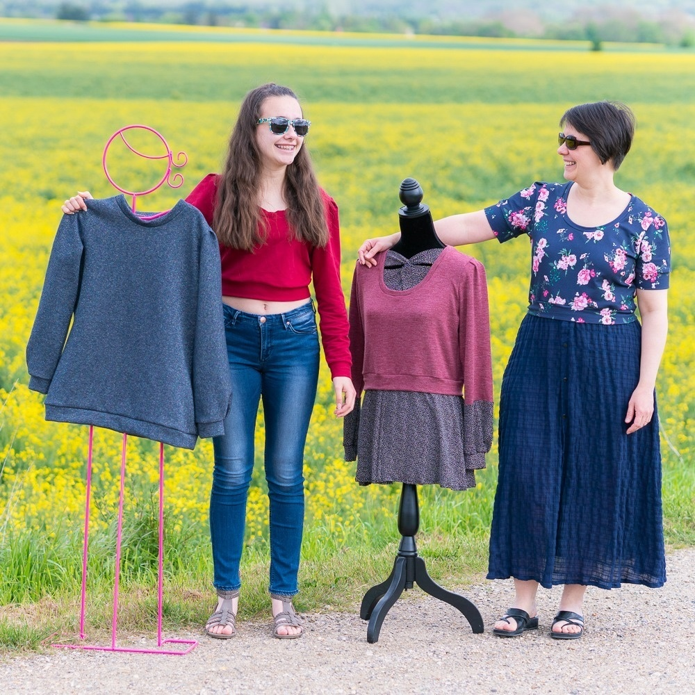 PACK Menthe : pull sweat + pull effet chemise / crop top