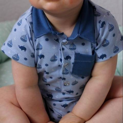 "eBook Kragenbody ""Little Baby Collar"" Gr. 56 - 92"
